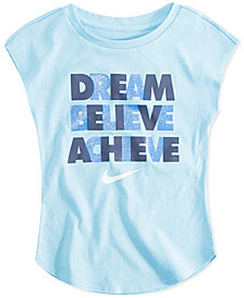 Nike Little Girls Dream-Print T-Shirt