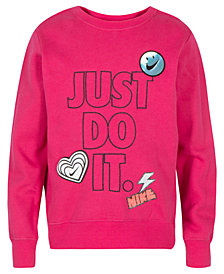 Nike Little Girls Doodle-Print Sweatshirt