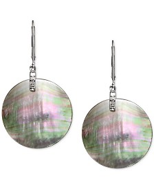 Tahitian Mother-of-Pearl & Diamond Accent Drop Earrings in Sterling Silver