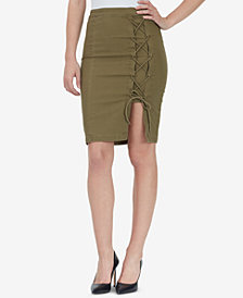 WILLIAM RAST Michelle Lace-Up Pencil Skirt