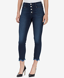 WILLIAM RAST Sculpted High-Rise Button-Fly Skinny Jeans