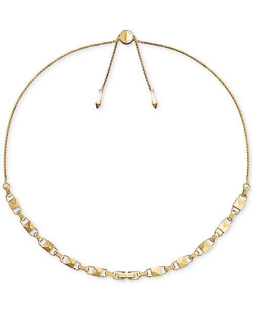Michael Kors Women's Mercer Link Sterling Silver Slider Necklace