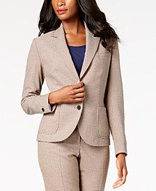 Anne Klein Two-Button Plaid Blazer, Created for Macy's