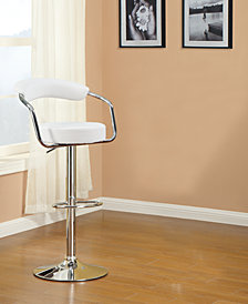 Back Cushion Bar Stool,White