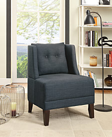 Fabric Side Chair, Blue