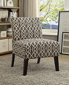 Pattern Accent Chair, Beige/Black