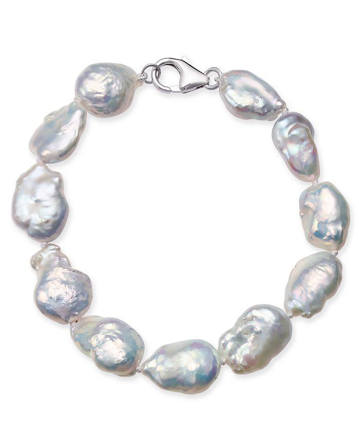 Macy's - Cultured Baroque Freshwater Pearl (11-14mm) Bracelet