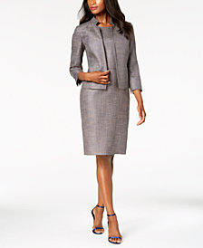 Anne Klein Cropped Jacket & Sheath Dress, Created for Macy's