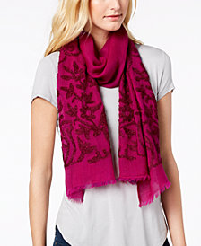 Echo Jaipur Birds Wool Scarf