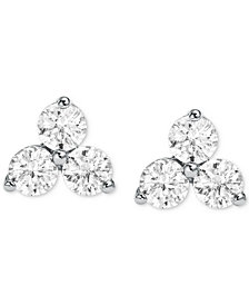 Michael Kors Women's Sterling Silver Cubic Zirconia Cluster Studs