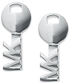 Michael Kors Women's Sterling Silver Key Stud Earrings