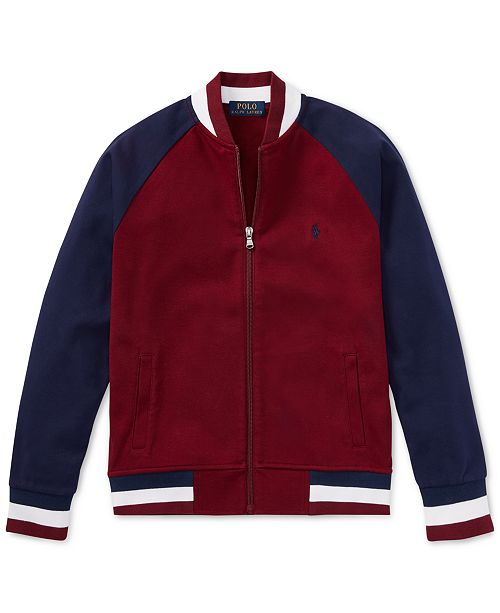 44e01181a Polo Ralph Lauren Big Boys Cotton Baseball Jacket & Reviews ...