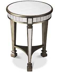 Garbo Mirrored End Table, Quick Ship