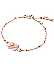 Michael Kors Women's Kors Color Sterling Silver Pavé Bracelet