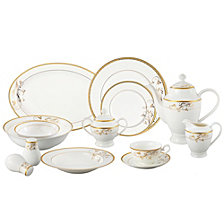 Lorren Home Trends Rosalia 57-PC  Dinnerware Set, Service for 8