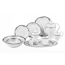 Lorren Home Trends Elizabeth 57-Pc. Dinnerware Set, Service for 8