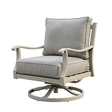 Courtyard Casual Torino Aluminum Outdoor Swivel Glider Club Chair