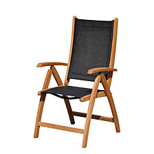 Courtyard Casual Burma Teak and Sling Outdoor Chair