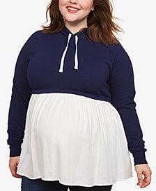 Motherhood Maternity Plus Size Layered-Look Sweatshirt