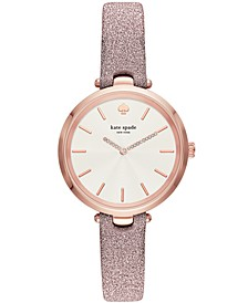 Women's Holland Pink Leather Strap Watch 34mm