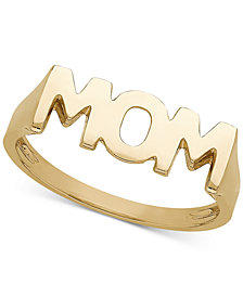 MOM Ring in 14k Gold