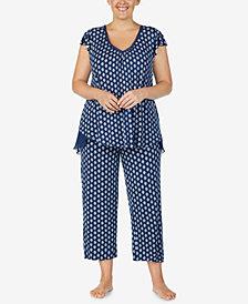 Ellen Tracy Plus Size Printed Pajama Top
