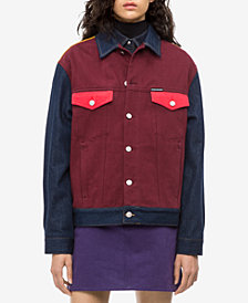 Calvin Klein Jeans Cotton Colorblocked Trucker Jacket