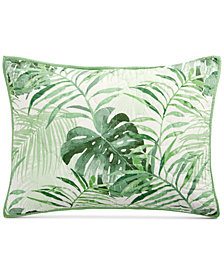 Martha Stewart Collection Palm Fronds 100% Cotton Standard Sham, Created for Macy's