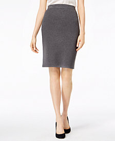 Bar III Pull-On Sweater Skirt, Created for Macy's