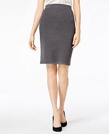 Bar III Pull-On Sweater Skirt, Created for Macy's