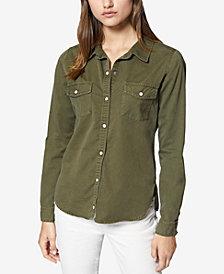 Sanctuary Cotton Snap-Front Shirt