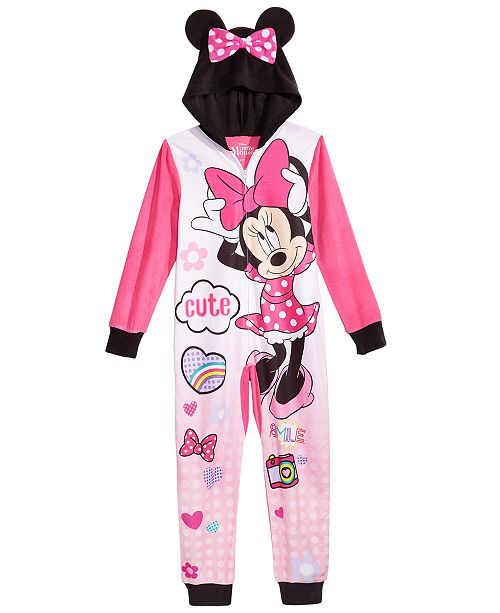 6fdb05d3dd4c Minnie Mouse Little   Big Girls 1-Pc. Hooded Pajamas   Reviews ...