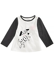 First Impressions Baby Girls Spotty Dog Graphic Cotton Shirt, Created for Macy's