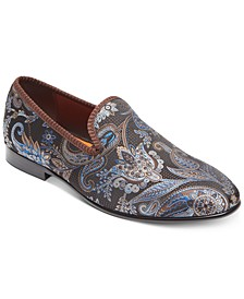Men's Enrico Brocade Smoking Slippers