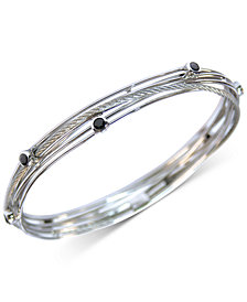 CHARRIOL Black Spinel Multi-Band Bracelet in Stainless Steel