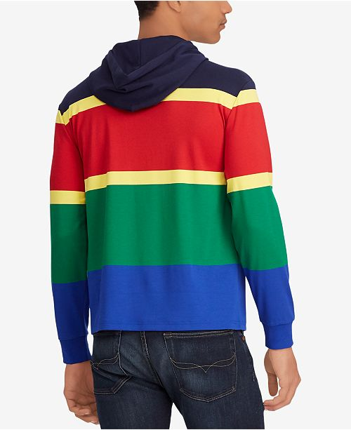 b9f4037c09365 ... Polo Ralph Lauren Men s Hi Tech Colorblocked Cotton Long Sleeve Classic  Fit Hoodie ...