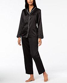 Alfani Piped Shawl-Collar Pajama Set, Created for Macy's