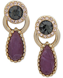 Ivanka Trump Gold-Tone Crystal & Stone Ear Jacket Earrings