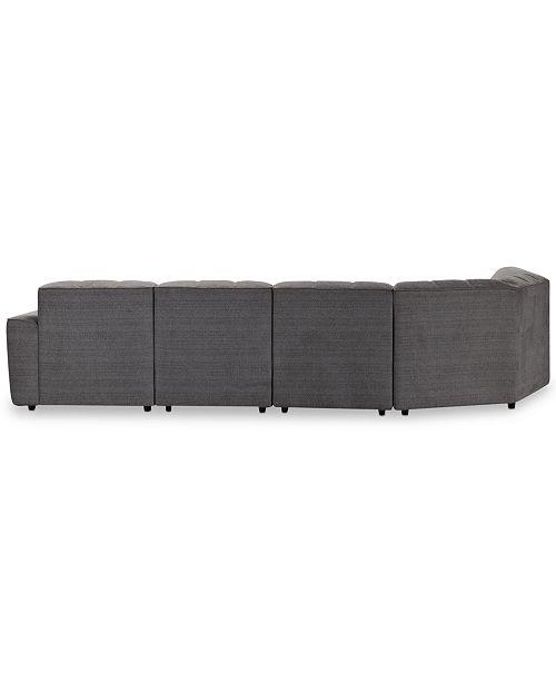 db278434fcf Furniture CLOSEOUT! Amboise 6-Pc. Fabric Sectional Sofa