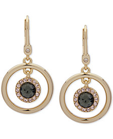 Ivanka Trump Gold-Tone Crystal & Stone Orbital Drop Earrings
