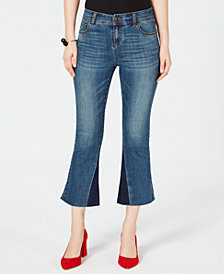 I.N.C. Two-Tone Kick-Flare Jeans, Created for Macy's