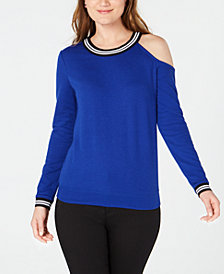I.N.C. Cold-Shoulder Sweatshirt, Created for Macy's