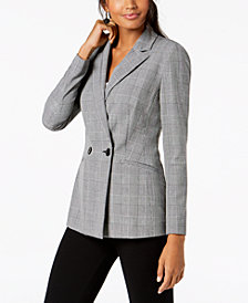 I.N.C. Double-Breasted Plaid Blazer, Created for Macy's