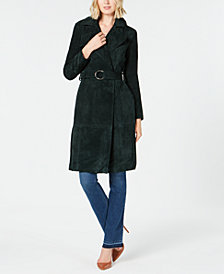I.N.C. Suede O-Ring Trench Coat, Created for Macy's