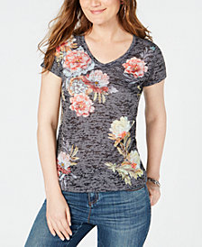 I.N.C. Floral-Print T-Shirt, Created for Macy's