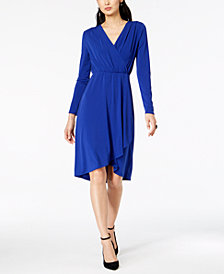 I.N.C. Faux-Wrap Dress, Created for Macy's