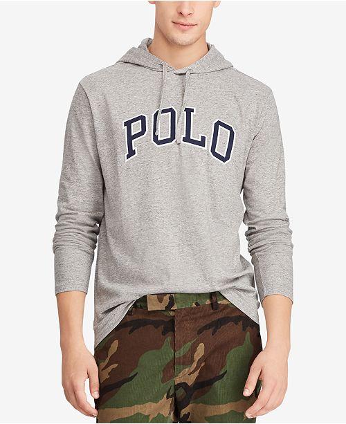 43f2a04a0 Polo Ralph Lauren Men's Hooded Graphic Cotton T-Shirt Hoodie ...
