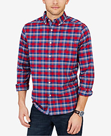 Nautica Men's Oxford Plaid Classic Fit Shirt