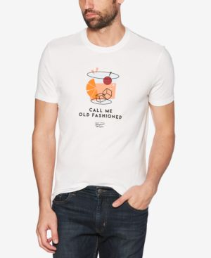 ORIGINAL PENGUIN Men'S Call Me Old Fashioned Graphic T-Shirt in Bright White