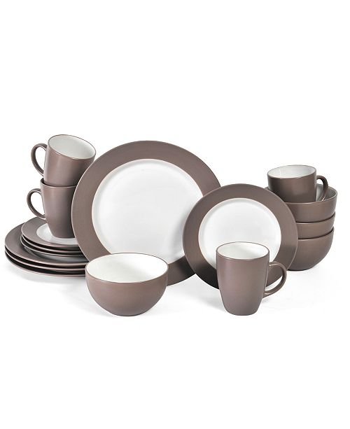 Pfaltzgraff 16-Pc. Harmony Taupe Dinnerware Set